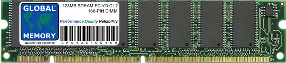 128MB SDRAM PC100 100MHz 168-PIN DIMM MEMORY RAM FOR PC DESKTOPS/MOTHERBOARDS