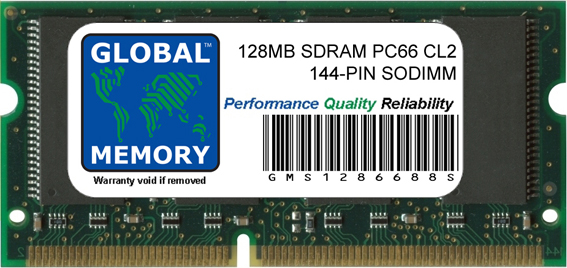 128MB SDRAM PC66 66MHz 144-PIN SODIMM MEMORY RAM FOR COMPAQ LAPTOPS/NOTEBOOKS
