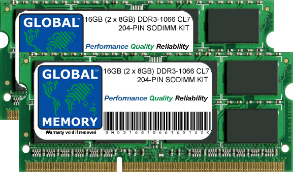 16GB (2 x 8GB) DDR3 1066MHz PC3-8500 204-PIN SODIMM MEMORY RAM KIT FOR MACBOOK & MACBOOK PRO 13 INCH (MID 2010)