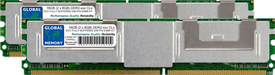 16GB (2 x 8GB) DDR2 533/667/800MHz 240-PIN ECC FULLY BUFFERED DIMM (FBDIMM) MEMORY RAM KIT FOR FUJITSU-SIEMENS SERVERS/WORKSTATIONS (4 RANK KIT CHIPKILL)