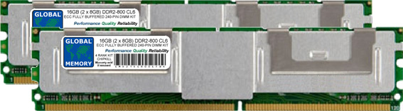 16GB (2 x 8GB) DDR2 800MHz PC2-6400 240-PIN ECC FULLY BUFFERED DIMM (FBDIMM) MEMORY RAM KIT FOR IBM SERVERS/WORKSTATIONS (4 RANK KIT CHIPKILL)