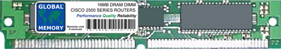 16MB DRAM SIMM MEMORY RAM FOR CISCO 2500 SERIES ROUTERS (MEM2500-16D)