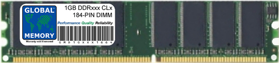 1GB DDR 266/333/400MHz 184-PIN DIMM MEMORY RAM FOR PC DESKTOPS/MOTHERBOARDS