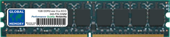 1GB DDR2 533/667/800MHz 240-PIN ECC DIMM (UDIMM) MEMORY RAM FOR SERVERS/WORKSTATIONS/MOTHERBOARDS