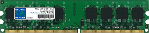 1GB DDR2 667MHz PC2-5300 240-PIN DIMM MEMORY RAM FOR PC DESKTOPS/MOTHERBOARDS