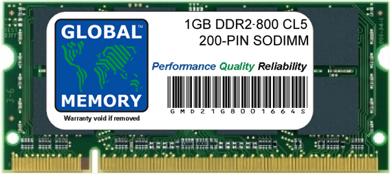 1GB DDR2 800MHz PC2-6400 200-PIN SODIMM MEMORY RAM FOR ACER LAPTOPS/NOTEBOOKS