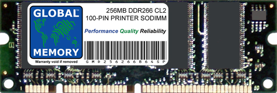 256MB DDR 266MHz PC2100 100-PIN SODIMM MEMORY RAM FOR PRINTERS