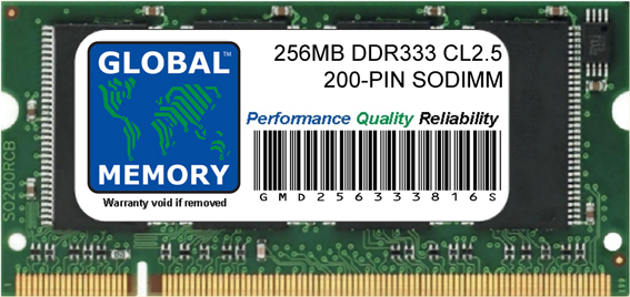 256MB DDR 333MHz 200-PIN SODIMM MEMORY RAM FOR IMAC G4 FLAT PANEL (17 INCH 1GHz, USB 2.0)