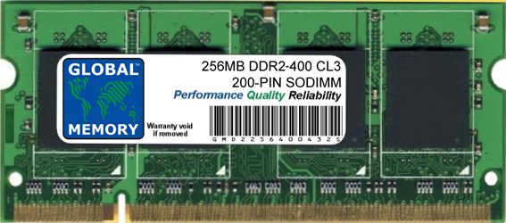 256MB DDR2 400MHz PC2-3200 200-PIN SODIMM MEMORY RAM FOR PACKARD BELL LAPTOPS/NOTEBOOKS