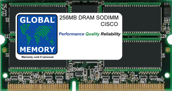 256MB DRAM SODIMM MEMORY RAM FOR CISCO 7200 SERIES ROUTERS NETWORK PROCESSING ENGINE NPE-400 (MEM-NPE-400-256MB)