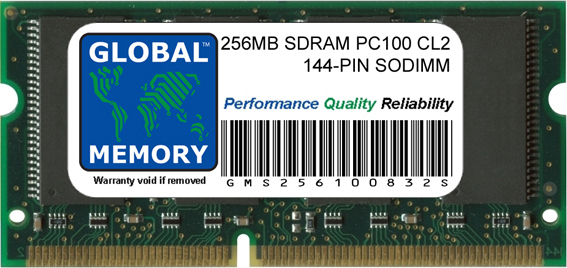 256MB SDRAM PC100 100MHz 144-PIN SODIMM MEMORY RAM FOR FUJITSU-SIEMENS LAPTOPS/NOTEBOOKS