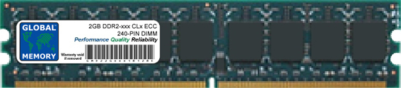 2GB DDR2 533/667/800MHz 240-PIN ECC DIMM (UDIMM) MEMORY RAM FOR SERVERS/WORKSTATIONS/MOTHERBOARDS