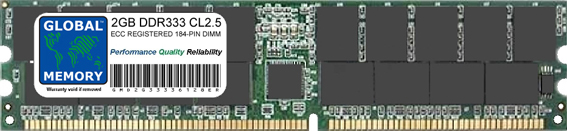2GB DDR 333MHz PC2700 184-PIN ECC REGISTERED DIMM (RDIMM) MEMORY RAM FOR SERVERS/WORKSTATIONS/MOTHERBOARDS (CHIPKILL)
