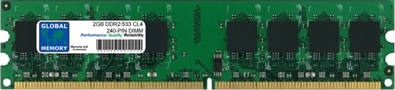 2GB DDR2 533MHz PC2-4200 240-PIN DIMM MEMORY RAM FOR PC DESKTOPS/MOTHERBOARDS