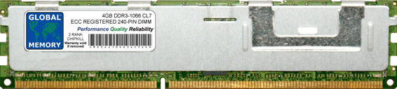 4GB DDR3 1066MHz PC3-8500 240-PIN ECC REGISTERED DIMM (RDIMM) MEMORY RAM FOR ACER SERVERS/WORKSTATIONS (2 RANK CHIPKILL)