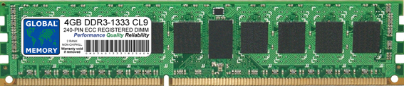 4GB DDR3 1333MHz PC3-10600 240-PIN ECC REGISTERED DIMM (RDIMM) MEMORY RAM FOR SUN SERVERS/WORKSTATIONS (2 RANK NON-CHIPKILL)