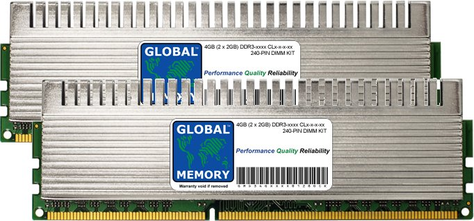 4GB (2 x 2GB) DDR3 1600/1800/2000/2133MHz 240-PIN OVERCLOCK DIMM MEMORY RAM KIT FOR PC DESKTOPS/MOTHERBOARDS