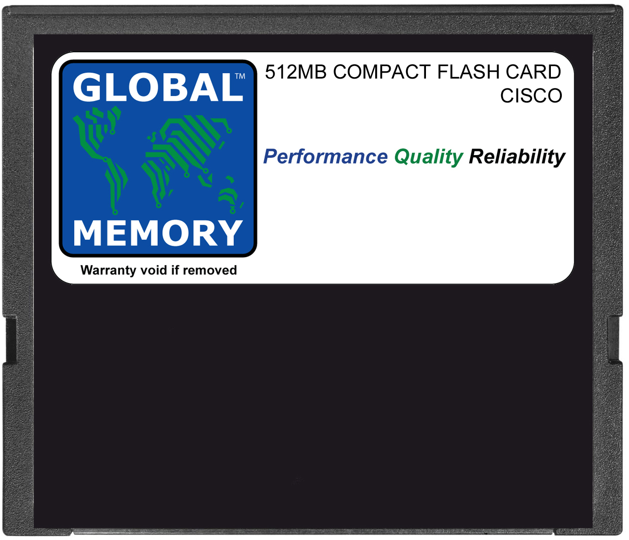 512MB COMPACT FLASH CARD MEMORY FOR CISCO CATALYST 6500 SERIES SWITCHES & 7600 SERIES ROUTERS 720 RSP (MEM-C6K-CPTFL512M)