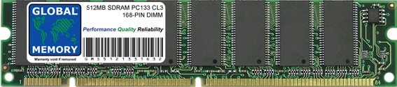512MB SDRAM PC133 133MHz 168-PIN DIMM MEMORY RAM FOR PC DESKTOPS/MOTHERBOARDS