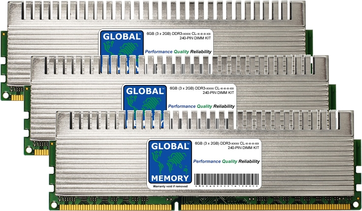 6GB (3 x 2GB) DDR3 1600/1800/2000/2133MHz 240-PIN OVERCLOCK DIMM MEMORY RAM KIT FOR PACKARD BELL DESKTOPS