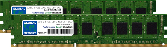 8GB (2 x 4GB) DDR3 1600MHz PC3-12800 240-PIN ECC DIMM (UDIMM) MEMORY RAM KIT FOR IBM/LENOVO SERVERS/WORKSTATIONS