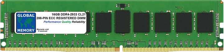 16GB DDR4 2933MHz PC4-23400 288-PIN ECC REGISTERED DIMM (RDIMM) MEMORY RAM FOR SERVERS/WORKSTATIONS/MOTHERBOARDS (2 RANK CHIPKILL)